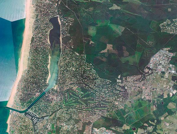 vue aérienne de Soorts-Hossegor